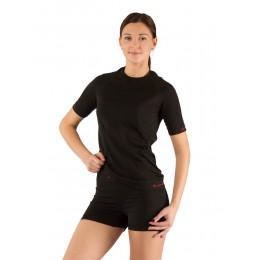 Футболка женская Lasting Alba, черная (размер L-XL)